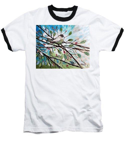 Sage Glimmering Songbird  Baseball T-Shirt