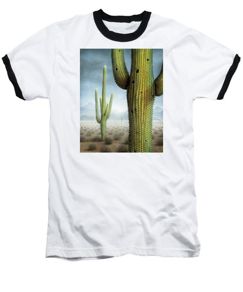 Saguaro Cactus Landscape Baseball T-Shirt by James Larkin