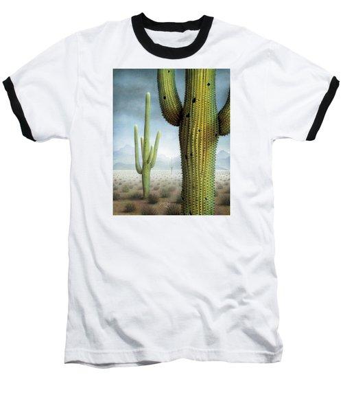 Saguaro Cactus Landscape Baseball T-Shirt