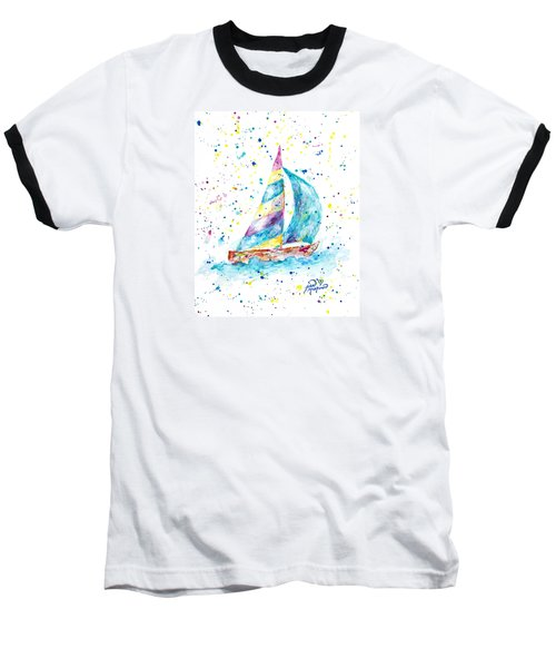 Sailboat By Jan Marvin Baseball T-Shirt