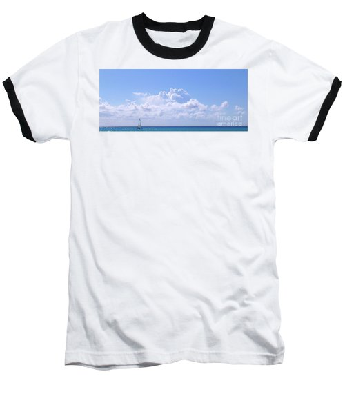 Baseball T-Shirt featuring the photograph Sailboat Sea And Sky M5 by Francesca Mackenney