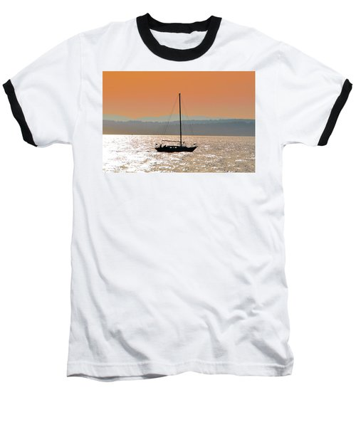 Sailboat With Bike Baseball T-Shirt