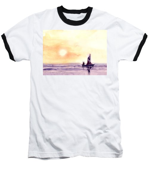 Baseball T-Shirt featuring the painting Sailing by Anil Nene