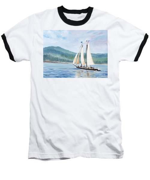 Sailing Into Castine Harbor Baseball T-Shirt
