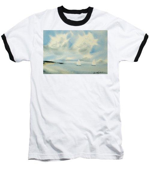 Sailing Into A Calm Anchorage Baseball T-Shirt