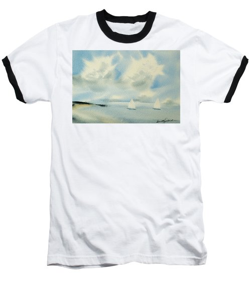 Sailing Into A Calm Anchorage Baseball T-Shirt