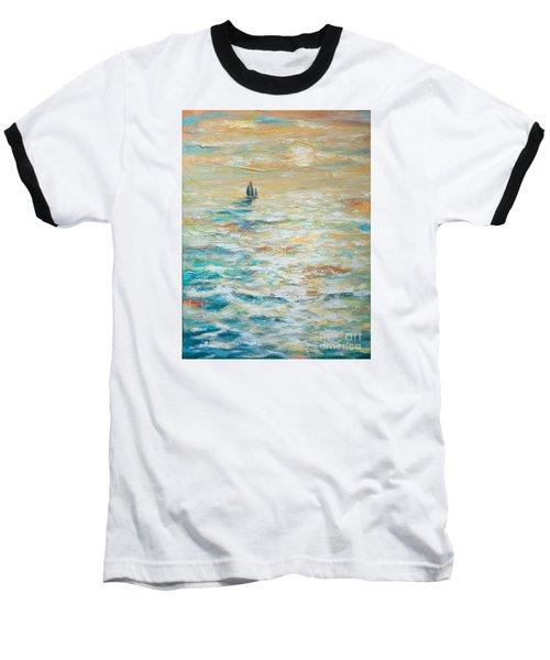 Sailing Into The Sunset Baseball T-Shirt by Linda Olsen