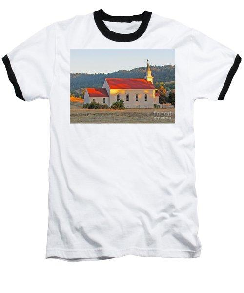 St. Mary's Church At Sunset Baseball T-Shirt