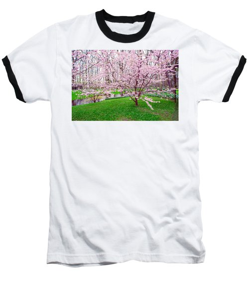 Baseball T-Shirt featuring the photograph Sakura Bloom In Keukenhof Garden by Jenny Rainbow