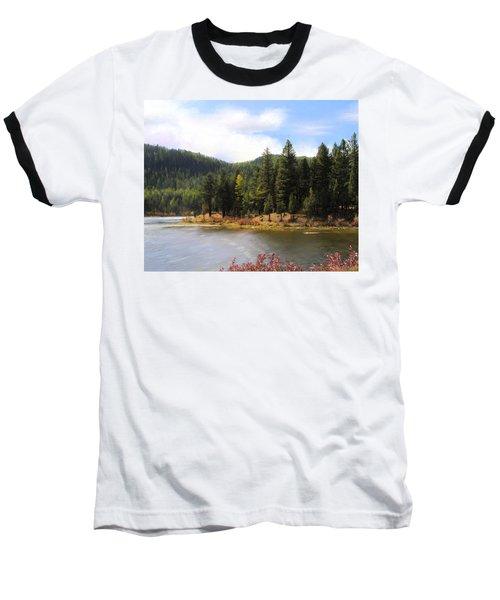 Salmon Lake Montana Baseball T-Shirt by Susan Kinney