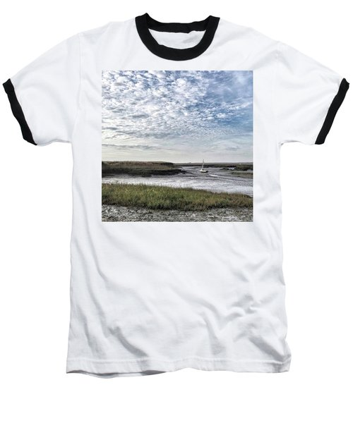 Salt Marsh And Creek, Brancaster Baseball T-Shirt