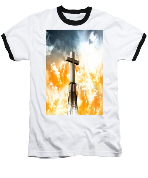 Baseball T-Shirt featuring the photograph Salvation  by Aaron Berg