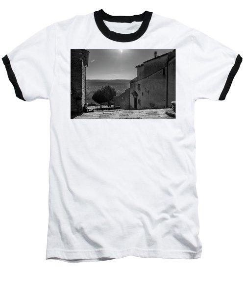 Baseball T-Shirt featuring the photograph San Francesco Monastery - Fiesole, Italia. by Sonny Marcyan