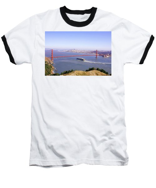 Baseball T-Shirt featuring the photograph San Francisco - City By The Bay by Art Block Collections