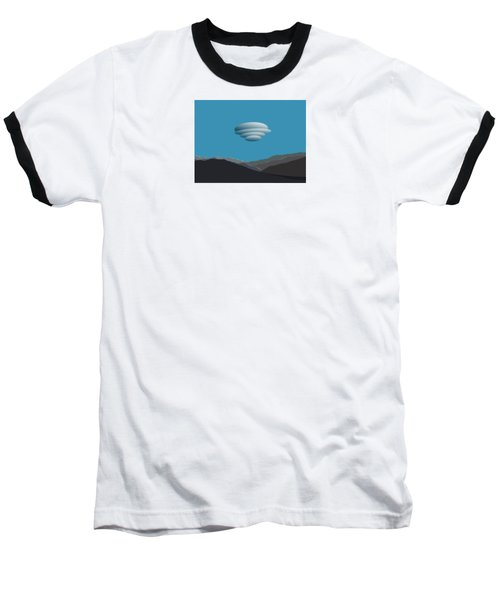 San Jacinto Mts With Lenticular Cloud Baseball T-Shirt