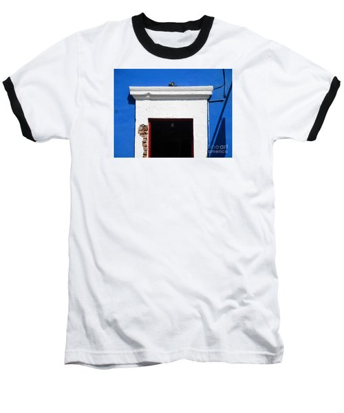 San Jose Del Cabo Door 5 Baseball T-Shirt by Randall Weidner