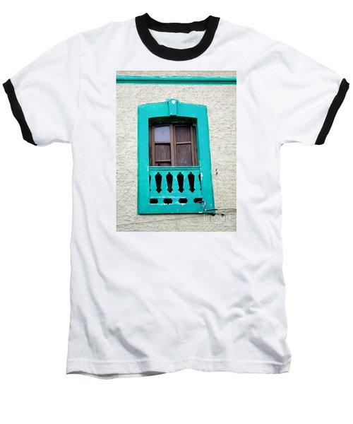 San Jose Del Cabo Window 12 Baseball T-Shirt by Randall Weidner