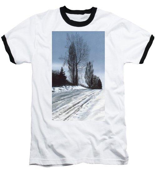 San Juan Snow Baseball T-Shirt by Laurie Stewart
