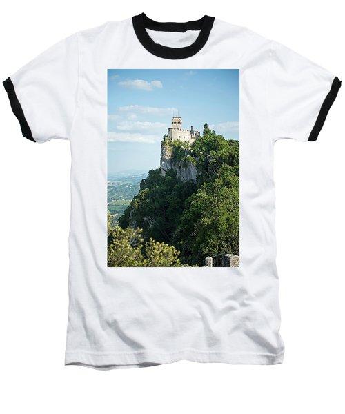 San Marino - Guaita Castle Fortress Baseball T-Shirt by Joseph Hendrix