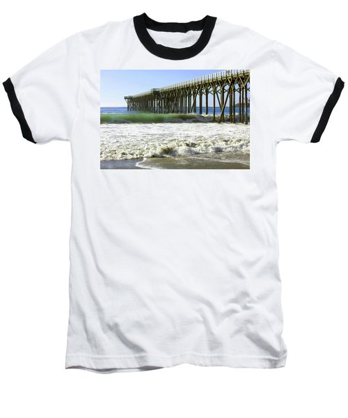 Baseball T-Shirt featuring the photograph San Simeon Pier by Art Block Collections