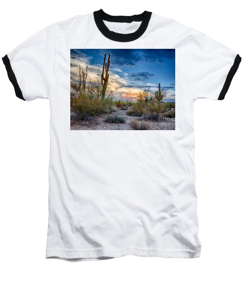 San Tan Mountain Park Sunset Baseball T-Shirt