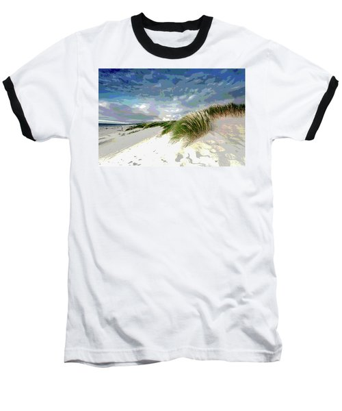 Sand And Surfing Baseball T-Shirt by Charles Shoup