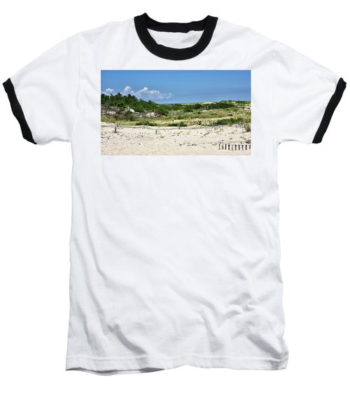 Baseball T-Shirt featuring the photograph Sand Dune In Cape Henlopen State Park - Delaware by Brendan Reals
