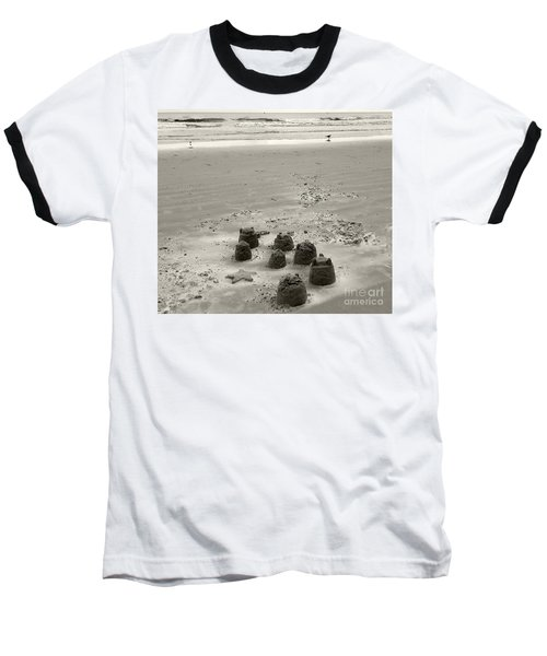 Baseball T-Shirt featuring the photograph Sand Fun by Raymond Earley