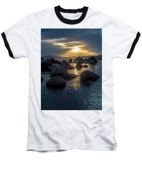 Sand Harbor Light Baseball T-Shirt