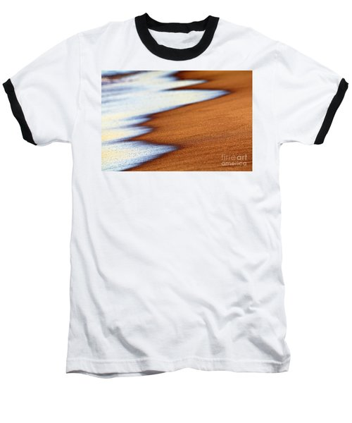 Sand And Waves Baseball T-Shirt by Tony Cordoza