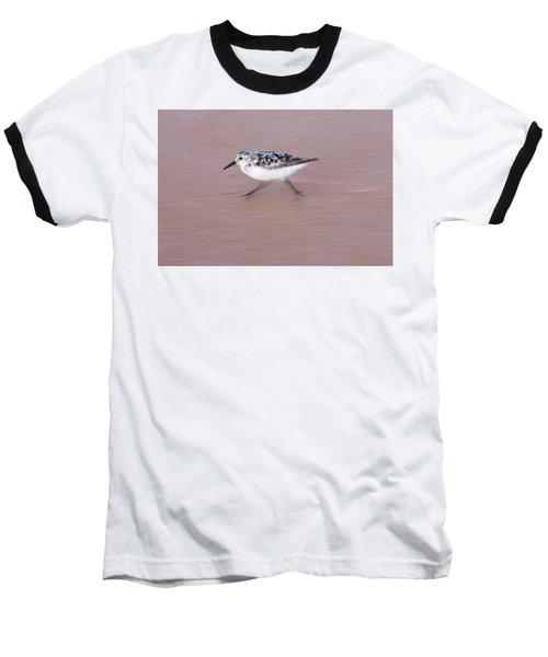 Sanderling On The Run Baseball T-Shirt