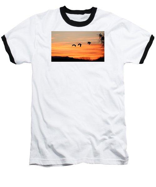 Sandhill Sunrise 2 Baseball T-Shirt
