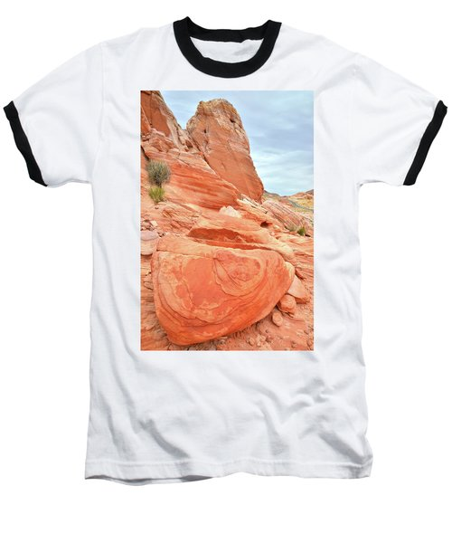 Baseball T-Shirt featuring the photograph Sandstone Pillar In Valley Of Fire by Ray Mathis