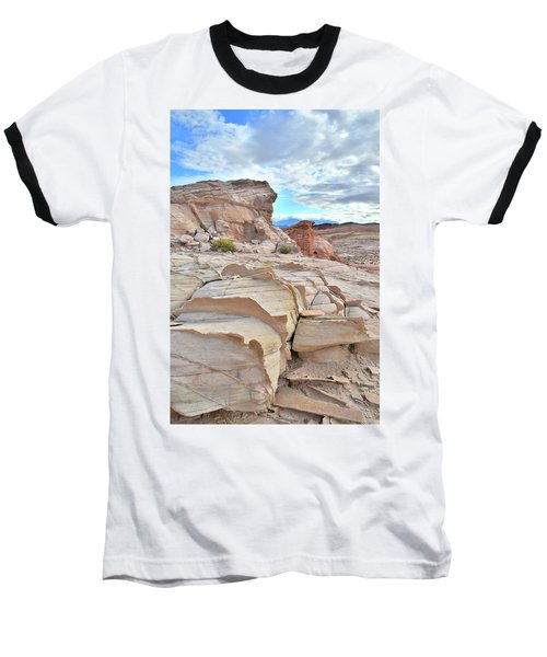 Sandstone Staircase In Valley Of Fire Baseball T-Shirt by Ray Mathis