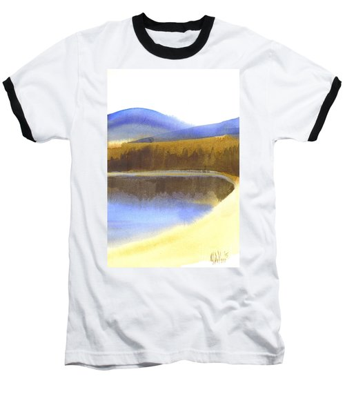 Baseball T-Shirt featuring the painting Sandy Blue Dusky Mountain Lake by Kip DeVore