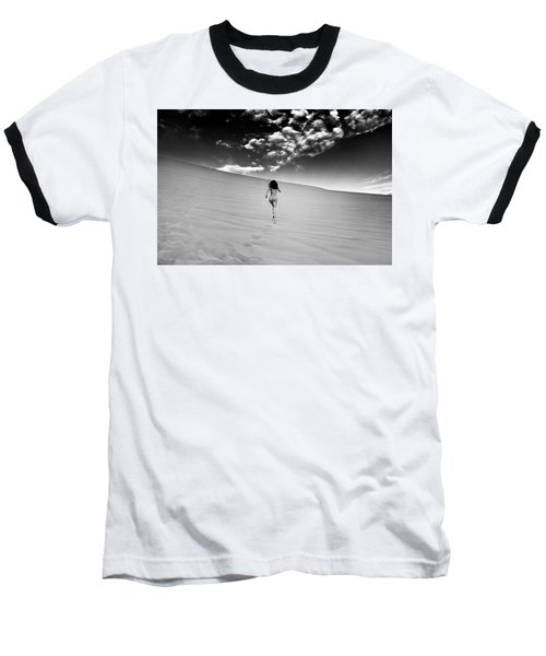 Sandy Dune Nude - Catching The Clouds Baseball T-Shirt