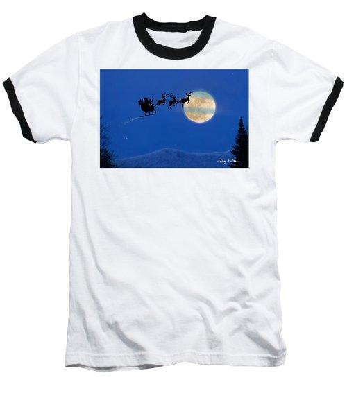 Santa 1 Baseball T-Shirt