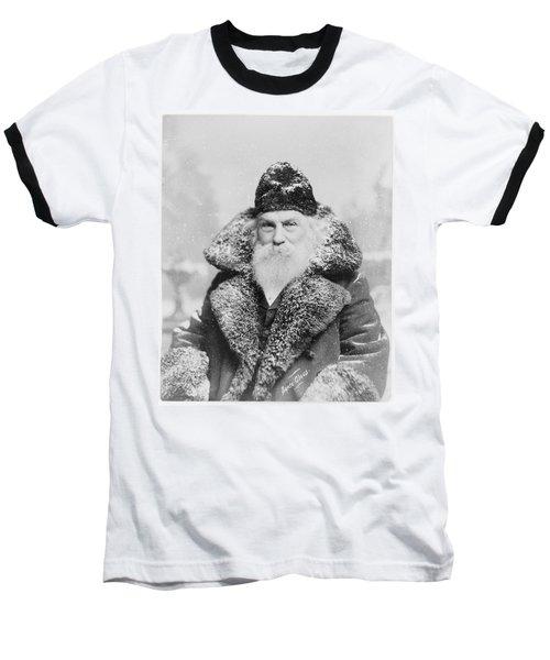 Santa Claus Baseball T-Shirt by David Bridburg