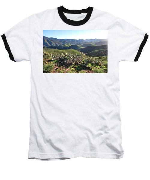 Santa Monica Mountains - Hills And Cactus Baseball T-Shirt