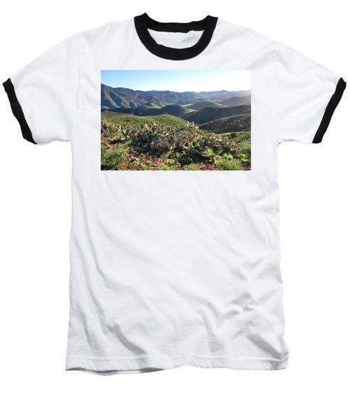 Santa Monica Mountains - Hills And Cactus Baseball T-Shirt