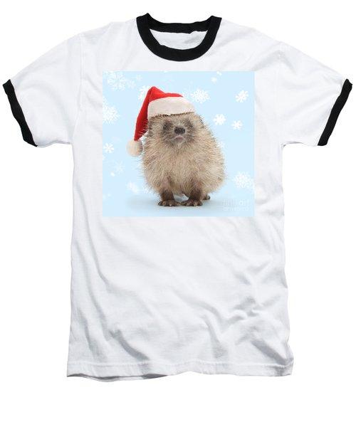 Santa's Prickly Pal Baseball T-Shirt