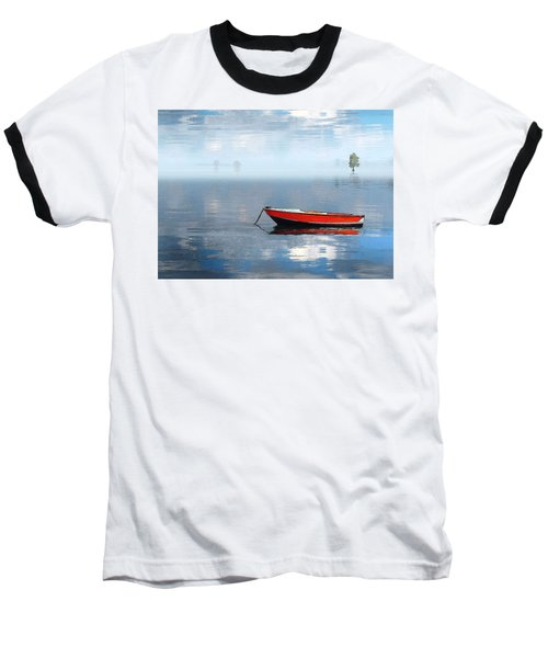 Santee Lakes Serenity Baseball T-Shirt by Deborah Smith