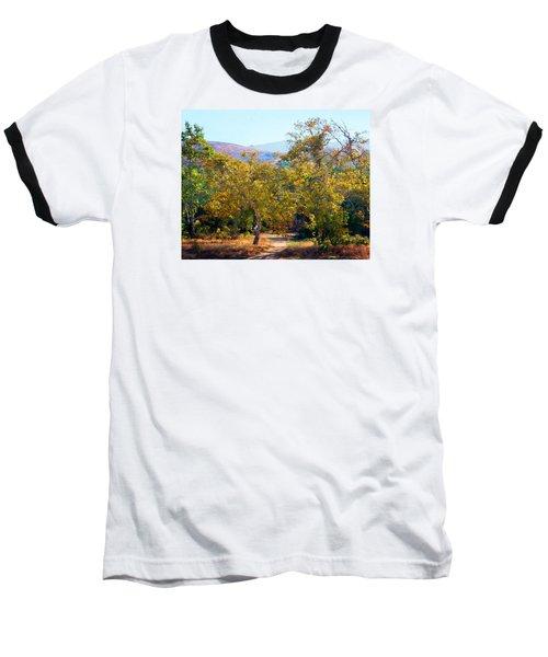 Santiago Creek Trail Baseball T-Shirt by Timothy Bulone