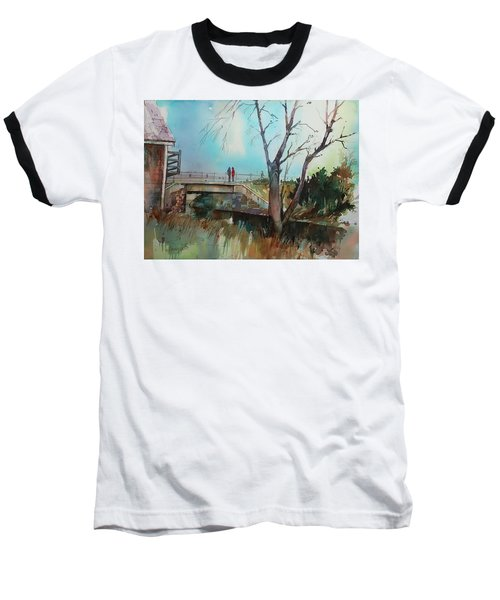 Sara's Viewi Of The Jones River Baseball T-Shirt by P Anthony Visco