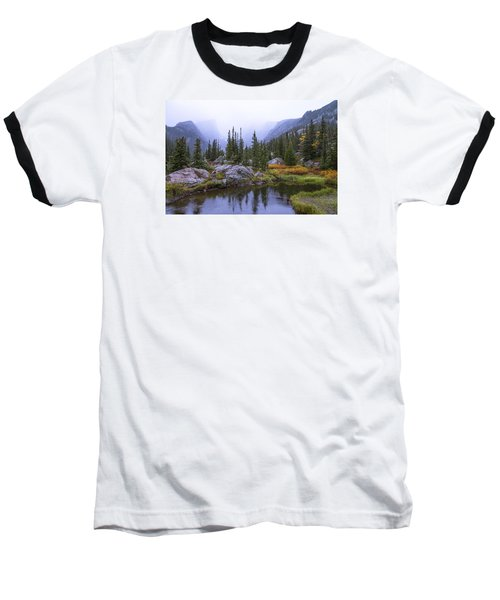 Saturated Forest Baseball T-Shirt by Chad Dutson