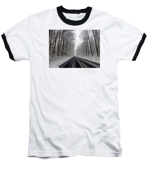 Saturday First Snow Of 2015 Baseball T-Shirt