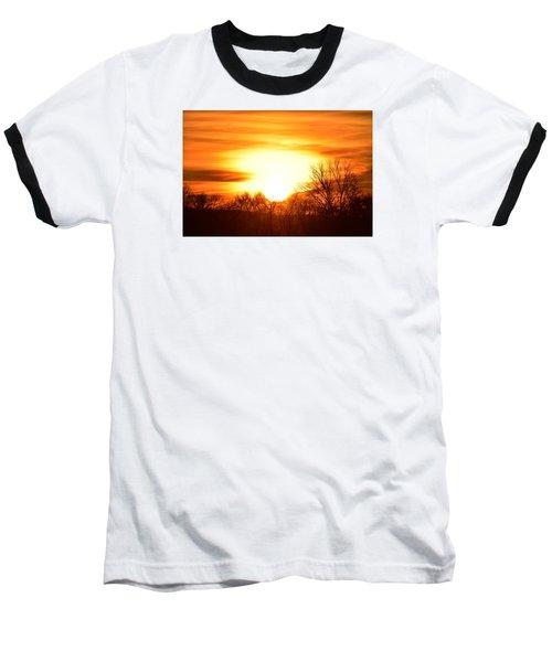 Saturday Mornings Sunrise Baseball T-Shirt by Dacia Doroff