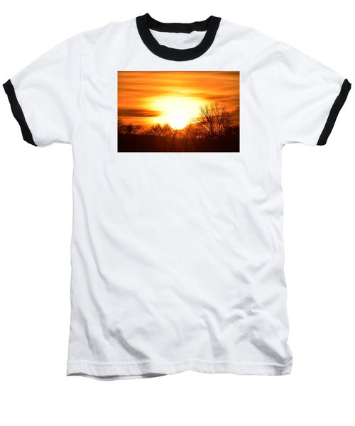 Saturday Mornings Sunrise Baseball T-Shirt
