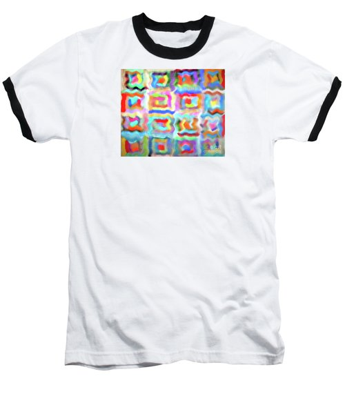 Saturday Quilting Muse Baseball T-Shirt by Gwyn Newcombe