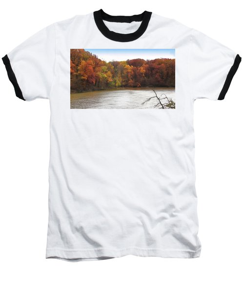 Sauk Lake Autumn Baseball T-Shirt by Cedric Hampton